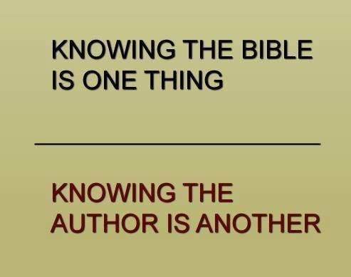 knowingthebibleisonething